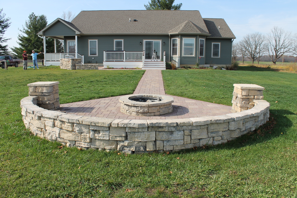 Built In Grill Patio & Remote Fire Pit - Grill-Patio-Remote-Fire-Pit-9 - R&D Landscape